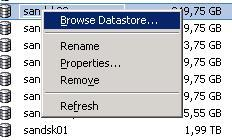 browse datastore